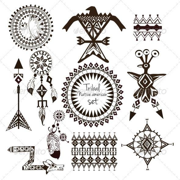 Apache Indian Symbols Tattoo