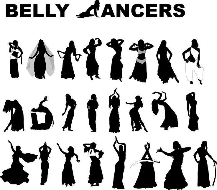 Belly Dancers 25 Free Vector Silhouettes