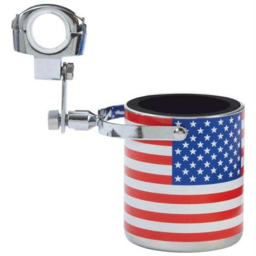 Diamond Plate Stainless Steel USA Flag Motorcycle Cup Holder   http://huntinggearsuperstore.com/product/diamond-plate-stainless-steel-usa-flag-motorcycle-cup-holder/