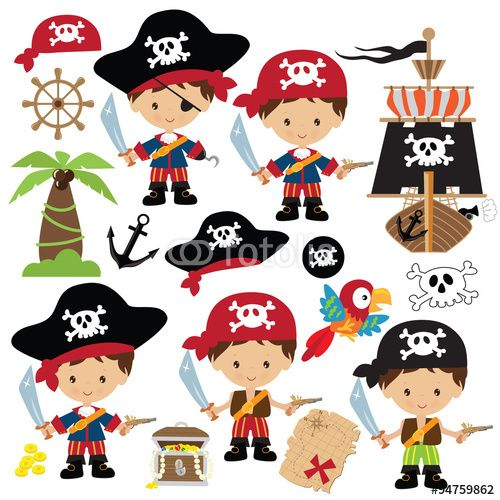 Vektor: Pirate vector illustration