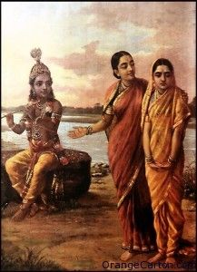 Introducing Radha to Krishna Raja Ravi Varma