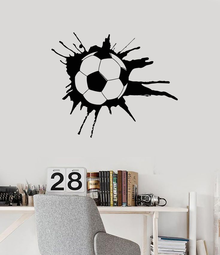 Wall Decal Soccer Sport Ball Sports Fans Boys Room Art Vinyl Stickers (ig2858)