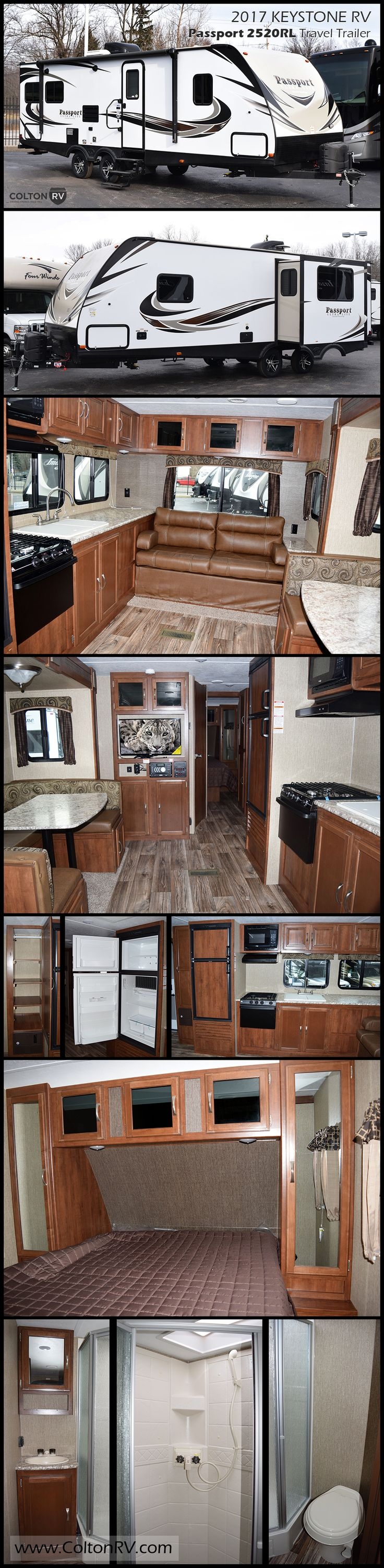 This PASSPORT GRAND TOURING 2520RL travel trailer by KEYSTONE RV allows you to enjoy the added space from the kitchen/living room slide, private front bedroom and much more! Because Passport is lighter and fully equipped, it is easier to grab and go, giving you plenty of opportunity to hit the road on a moment's notice.