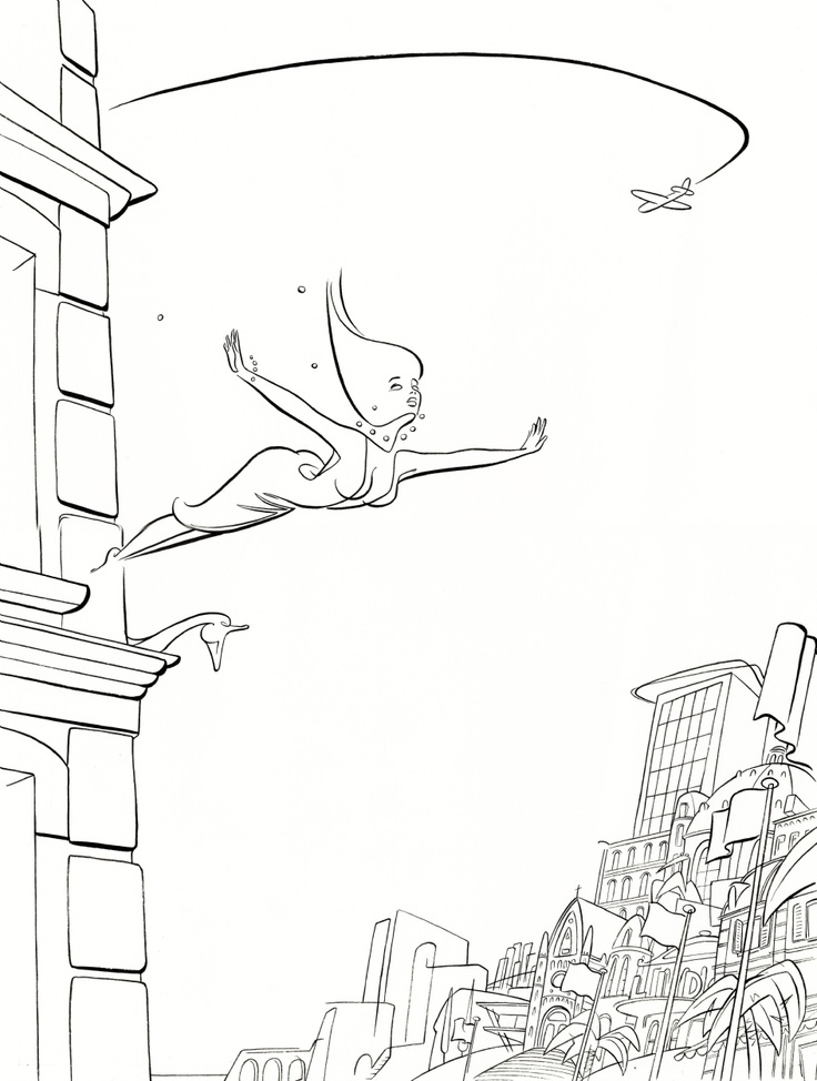 2009 - De eenzame planeet / Meccano. Original Comic Art. HANCO KOLK - born 1957 - The Netherlands De eenzame planeet / Meccano 1+2 +3  Cover - Ink on paper - 40x30 cm Publication Meccano 1 - 1993, Meccano2 - 1994, Meccano 3 - 1999, Publication book 2009.
