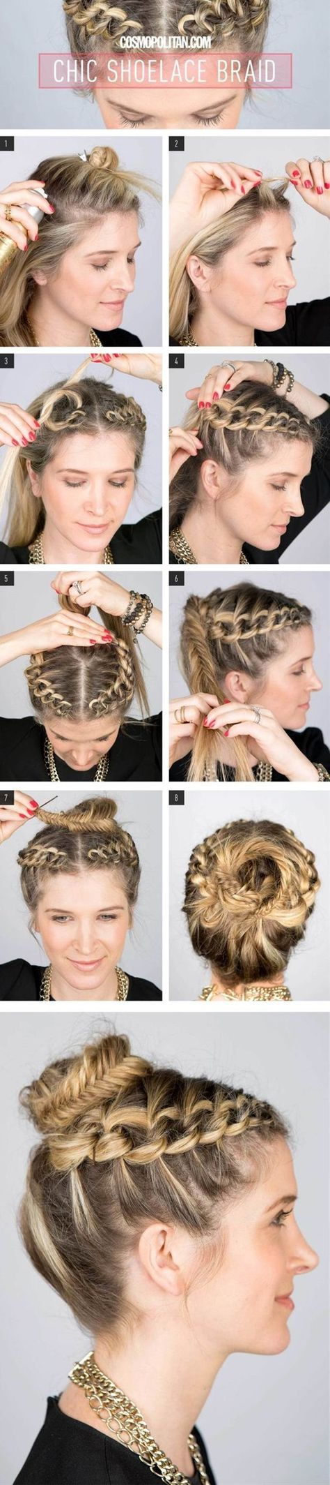 When it comes to styling hair, you simply cannot go wrong with braids. Whether your hair is long and thick or medium length and thin, whether it's summer or winter, braids are perfect for any time and situation. Need something fancy? Adorn your braid with pretty ribbons or hair bands. Looking for a casual yet feminine and elegant look for work? Just a simple braid will do. Truly, braids are incredibly versatile, practical and a little boring. There are just so many times you can try a braid.