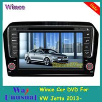 Free Shipping 2015 Top Wince Car Entertainment System DVD Player Video For VW Jetta 2013- With GPS Navigation Free Map