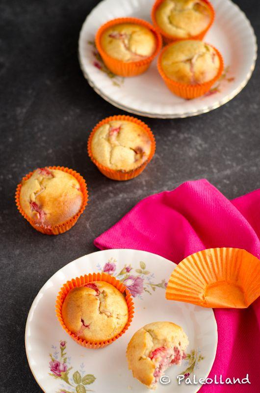 Go Pink! Paleo Strawberry Lemon Muffins on www.paleolland.com