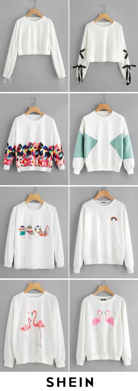 Round neck sweatshirts
