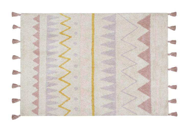 Washable Azteca Rug - Vintage Blush