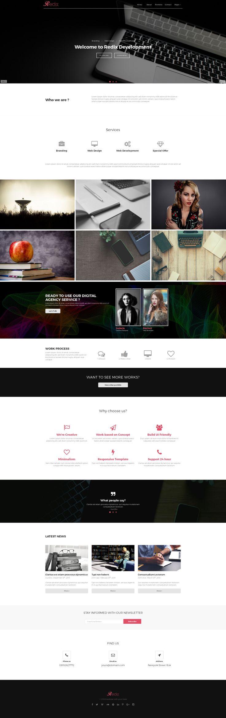 Redix Creative Multipurpose HTML only $19 Get it NOW on https://crmrkt.com/Dprp1 ! #webdesign #agency #creative #portfolio