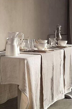 Charming Cote Bastide   Love A Simple Table Setting With Antique French Linens