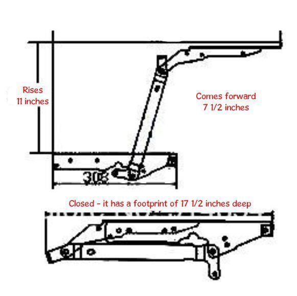 Mesa de café superior de elevación Hazlo tú mismo mecanismo hardware levantar muebles Bisagra Muelle B