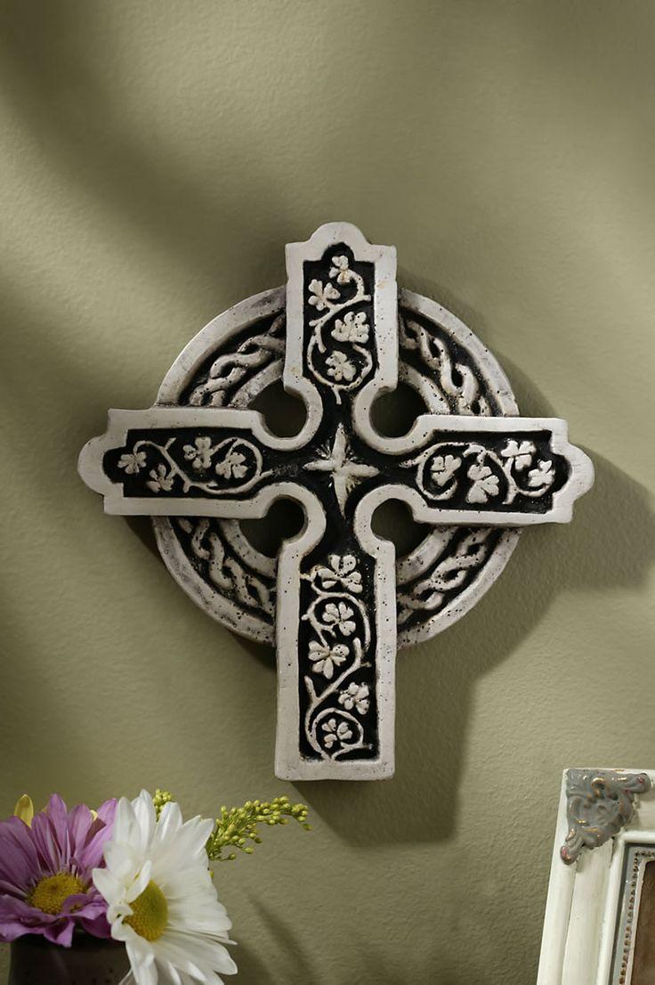 Enniskillen Cross - Co. Fermanagh, Ireland - The shamrock or in Irish Seamrog is considered a good luck symbol in Ireland since early times.