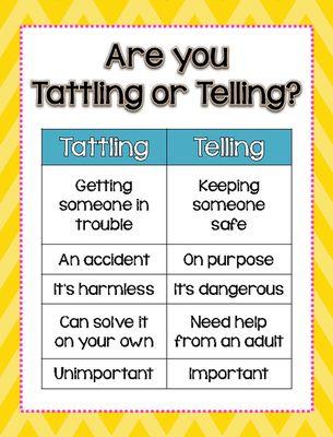Tattling vs. Telling **Freebie**