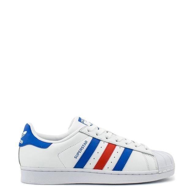 Gran Barrera de Coral Inducir Nathaniel Ward  Adidas Superstar http://tabathas-stuff.myshopify.com/products/adidas -superstar-4 | Zapatillas blancas, Adidas superstar, Rayas azules