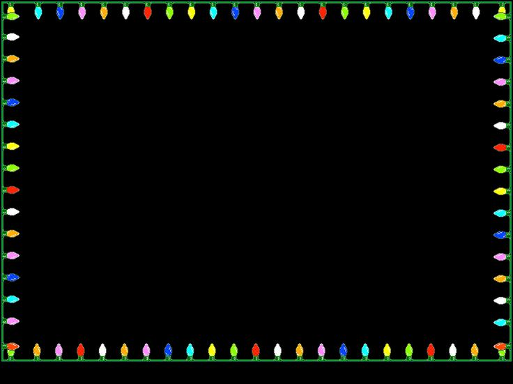 Animated christmas lights border