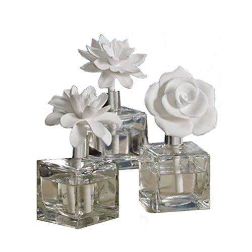 "Jardin de Rochelle Narcissus Porcelain Diffuser by Park Avenue. $41.95. A porcelain flower diffuser is a beautiful addition to any room. This fresh new look makes a great gift to the hostess, bride or to ""spring"" up your own space.No need for reeds,the flower is designed to draw attention and to draw in the oil and diffuse the fragrance into the room. Includes 4.1 oz fragrance."