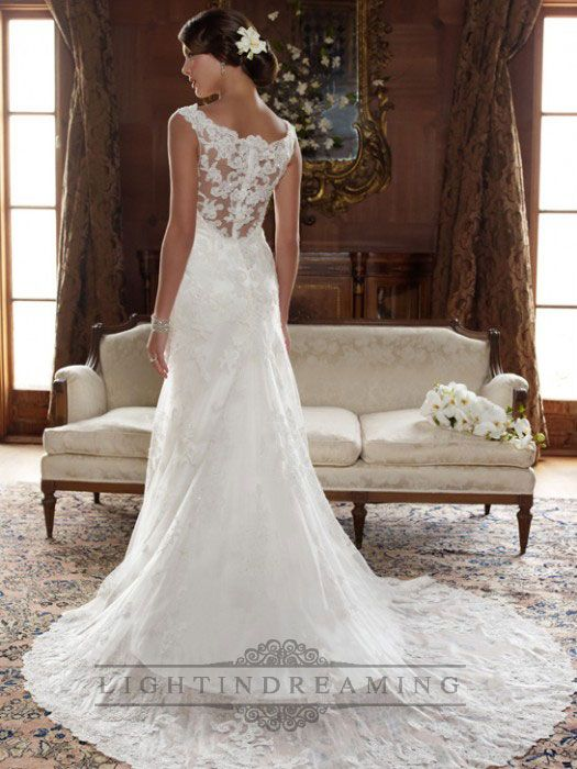 Off Shoulder Fit and Flare Beaded Lace Appliques Wedding Dress