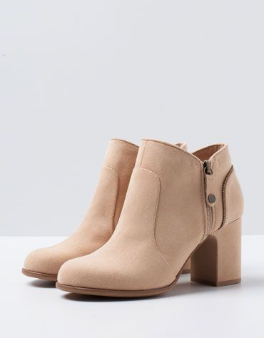 Bershka Bosnia and Herzegovina - BSK Basic Heeled Ankle Boots