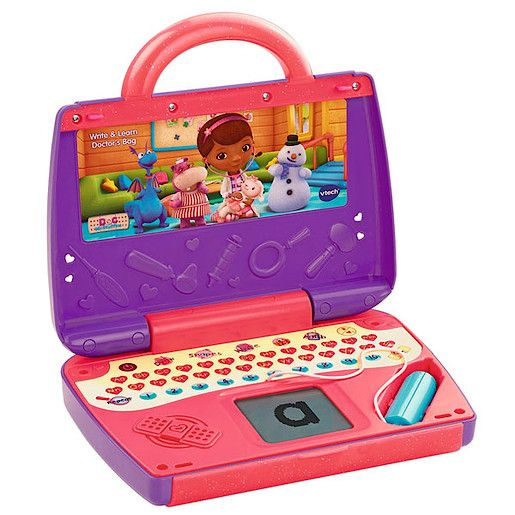 VTECH Write and Learn - Doc McStuffins Doctors Bag VTech Write and Learn - Doc McStuffins Doctors Bag is a medical marvel.This cool case opens out to reveal an electronic learning computer with a chunky writing stylus thatrsquo