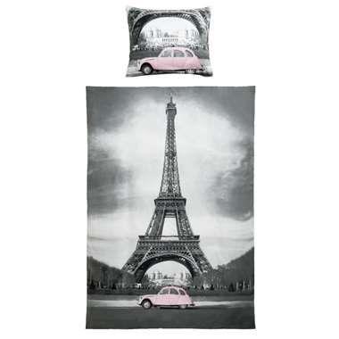 Dekbedovertrek Paris - grijs - 140x200 cm
