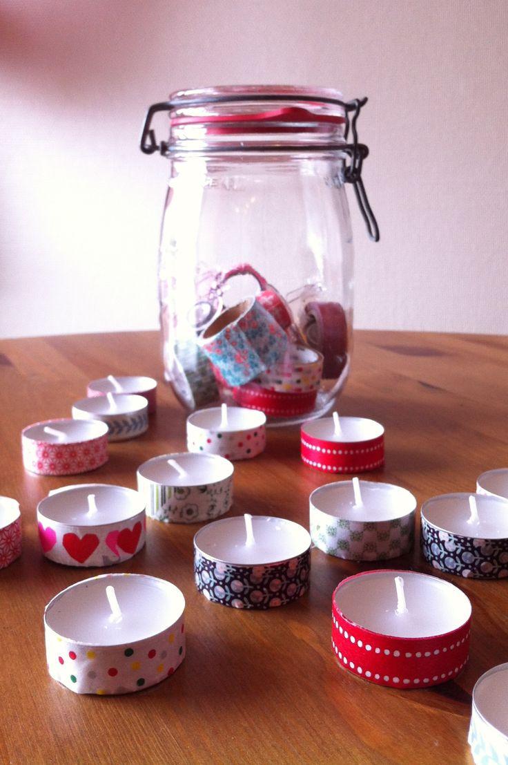 DIY : masking tape and candels