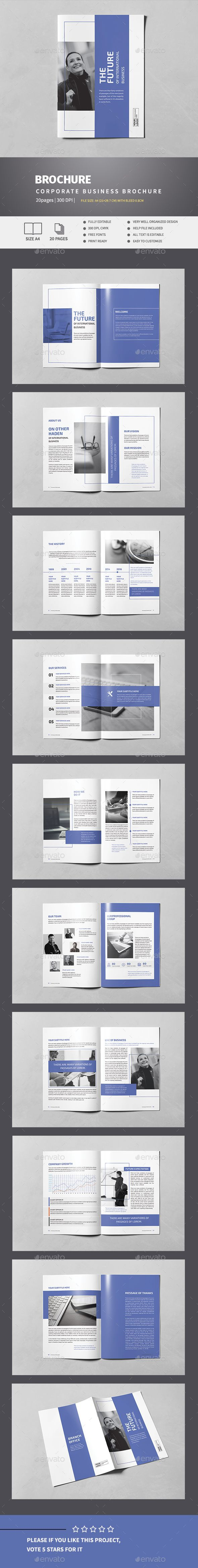 Indigo Business Brochure Template InDesign INDD. Download here: http://graphicriver.net/item/indigo-business-brochure/15066765?ref=ksioks