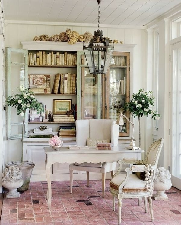 LOVE the brick floors!!!52 Ways Incorporate Shabby Chic Style into Every Room in Your Home