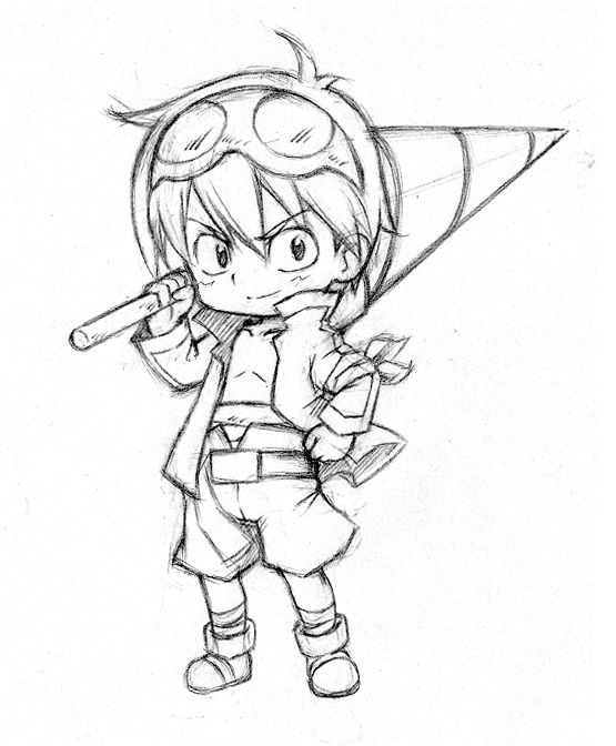 A Little Clean Sketch From Chibi Pencil When I Have Time