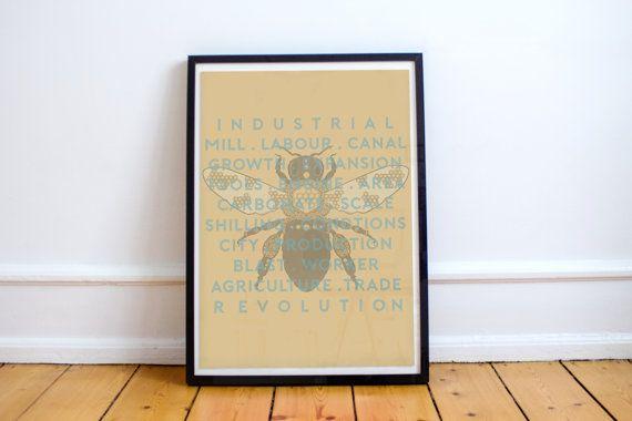 Manchester Bee  Industrial Revolution  by MarcusLanePrintShop