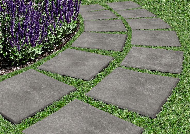 Stomp stones rubber 12 x 12 stepping stones that you for Stone path in grass