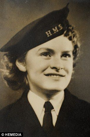 Elizabeth 'Betty' Balfour, pictured as a 17-year-old when she started work codebreaking at Bletchley Park. Elizabeth joined the Wrens when she was 17 and was handpicked to work on the top secret team under Alan Turing.