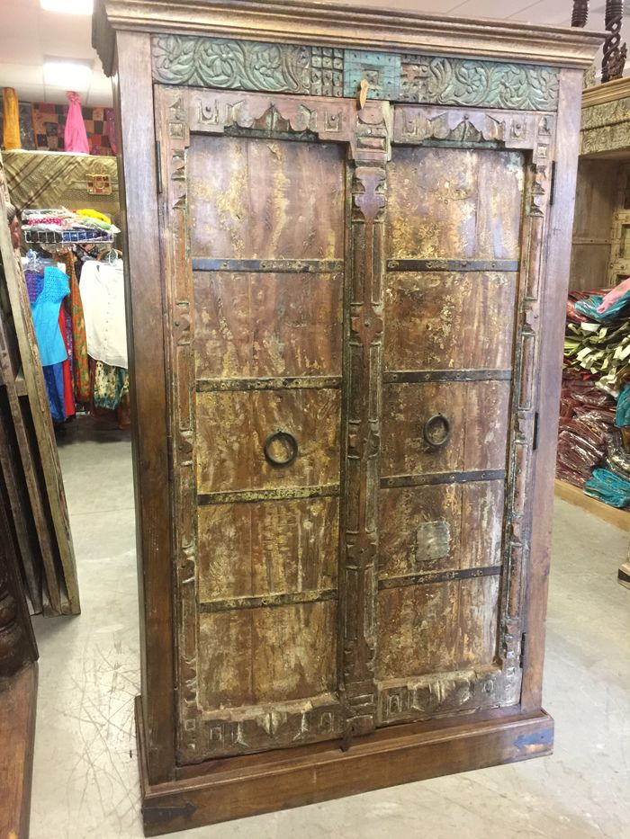 Armoire Huge Almirah Cabinet Antique Armoire Rustic Furniture Painting Wooden Furniture