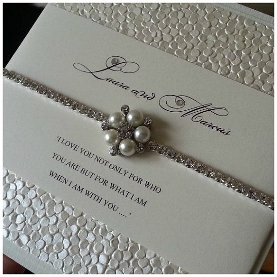 Divine Crystal wedding invitation