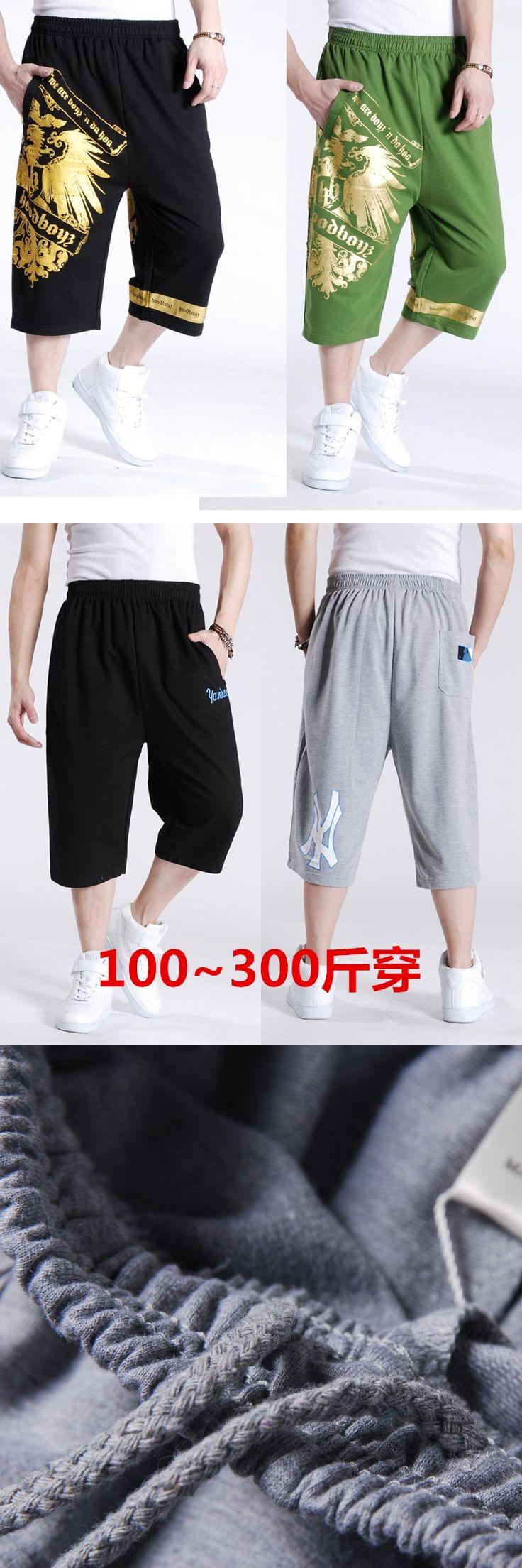 Plus fertilizer slacks Men Clothing Hip-Hop Pants Male Casual Harem Trousers calf-length Pants dj ds dancer costumes