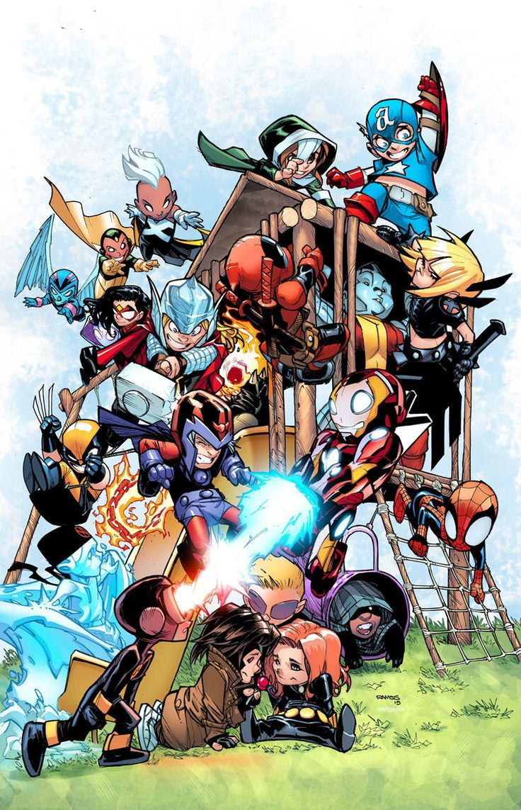 Preview: Giant Size: Little Marvel: AvX #1 STORY BY Skottie Young ART BY Skottie Young COVER BY Skottie Young, Humberto Ramos
