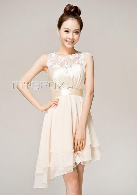 Tenues habill es pour mariage a ligne courte ourlet for Robes de demoiselle d honneur mariage de printemps