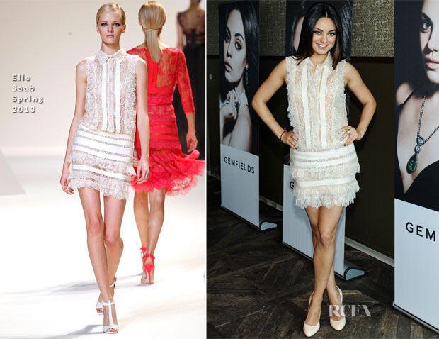 Mila Kunis In Elie Saab - Gemfields and W Magazine Brand Ambassador Launch Event