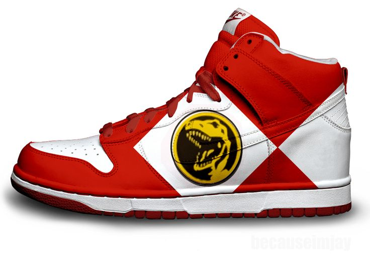 Red Power Ranger Nike Dunks by ~becauseimjay on deviantART