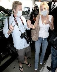 Image result for celebrities wearing surgical face masks