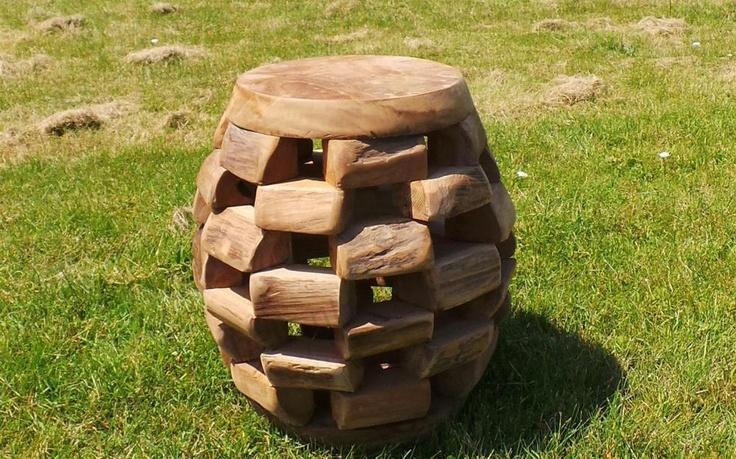 unique garden furniture made from old recycled teakwood. Black Bedroom Furniture Sets. Home Design Ideas