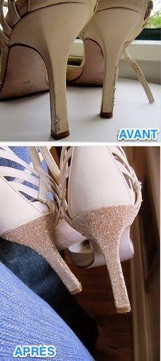 Un talon à peine abîmé et vlan ! À la poubelle nos belles chaussures... Non, pas question de les laisser partir comme ça. Et tout ça pour une simple petite égratignure sur le talon ! Vous n'allez bien sûr pas les laisser comme ça, donc vous allez... les transformer.  Découvrez l'astuce ici : http://www.comment-economiser.fr/truc-reparer-chaussures-talons.html?utm_content=bufferdee88&utm_medium=social&utm_source=pinterest.com&utm_campaign=buffer