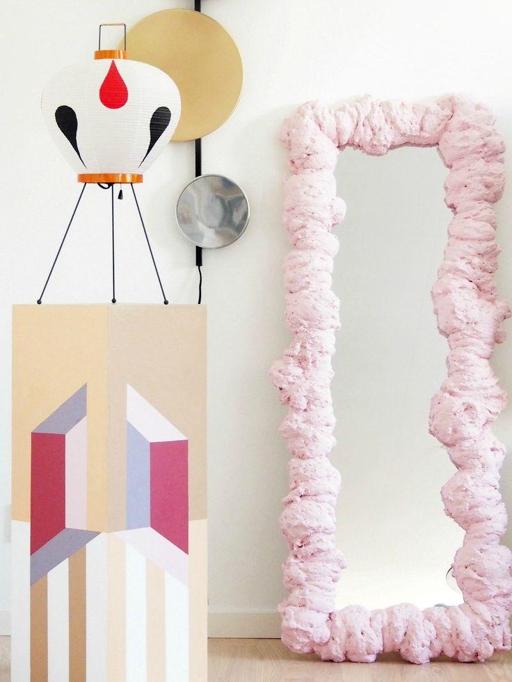 DIY Expanding Foam Mirror – Make a Statement Mirror – monsterscircus – DIY Event Foam Crafts, Diy Crafts, Expanding Foam, Spray Foam, Diy Décoration, My New Room, Modern Retro, Diy Art, Decoration