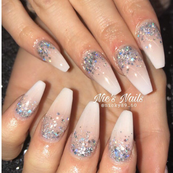 How To Do French Ombre Nails With Gel Polish Stylish Belles Ombre Nails Glitter Ombre Nails Nail Art Ombre