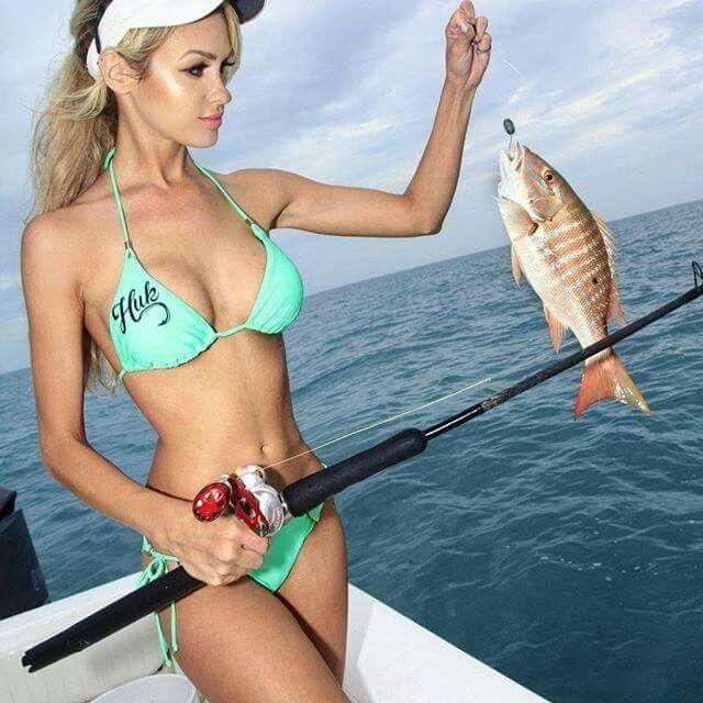 616 best sexy images on pinterest women fishing fishing for Women fishing in bikinis