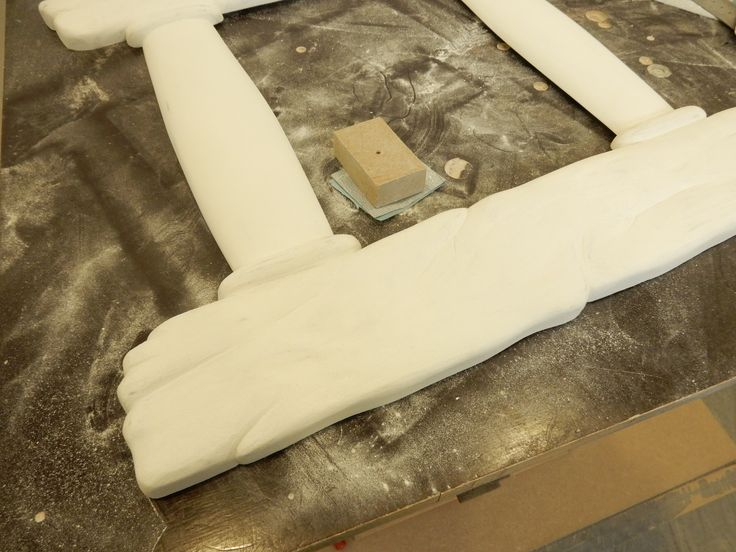 More sanding and applying the primer...