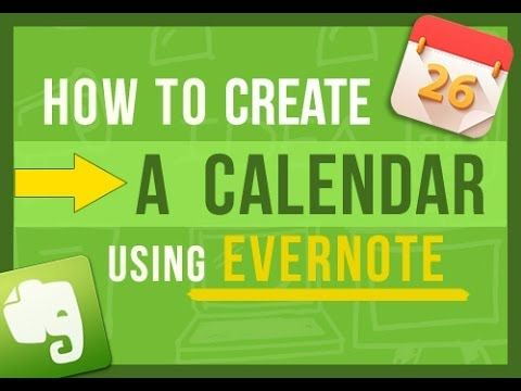 ▶ Evernote Tips: How To Create Your Own Calendar In Evernote (2 ways) - YouTube