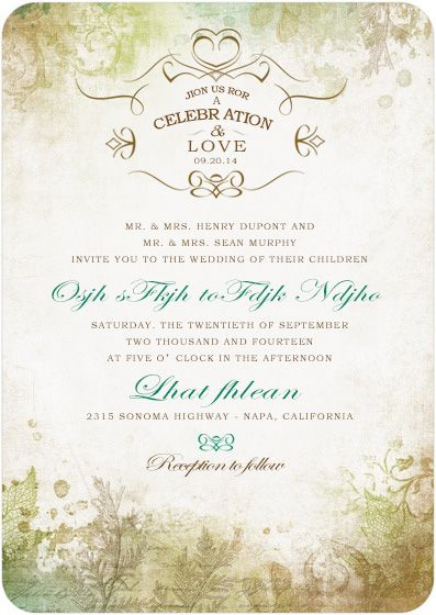 Except I would change the font so that our names would be more legible   Signature White Textured Wedding Invitations Romantic Regency   Front    Deep Sea  140 best wedding invitations images on Pinterest   Wedding  . Regency Wedding Invitations. Home Design Ideas