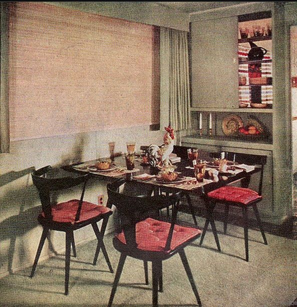 1950 Mid Century McCobb Dining Area This Image Was Published In American Home July As Part Of An Article About Building A Small House