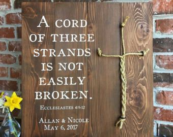 A Cord Of Three Strands Ecclesiastes 4 9 12 Rustic White